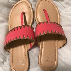 Crown and Ivy coral sandals